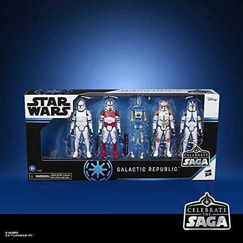 51kU NO1WVL. AC  - Star Wars Celebrate The Saga Toys Galactic Republic Figure Set, 3.75-Inch-Scale Collectible Action Figure 5-Pack for Kids Ages 4 and Up