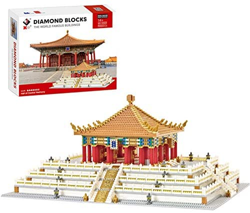 51l rEk9S2L. AC  - XSHION World Famous Architecture Micro Diamond Building Blocks Set, 5866Pcs The Hall of Central Harmony Mini Building Bricks Model Engineering Toy Construction Set Toys Gift for Kids Adults