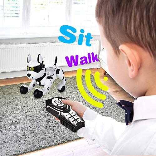 51l3tsErr6L. AC  - Contixo R4 IntelliPup Robot Dog, Walking Pet Toy Robots for Kids, Remote Control, Interactive & Smart Dancing Dance, Voice Commands, RC Dog for Gift Toy for Girls & Boys Ages 2,3,4,5,6,7,8,9,10 Years