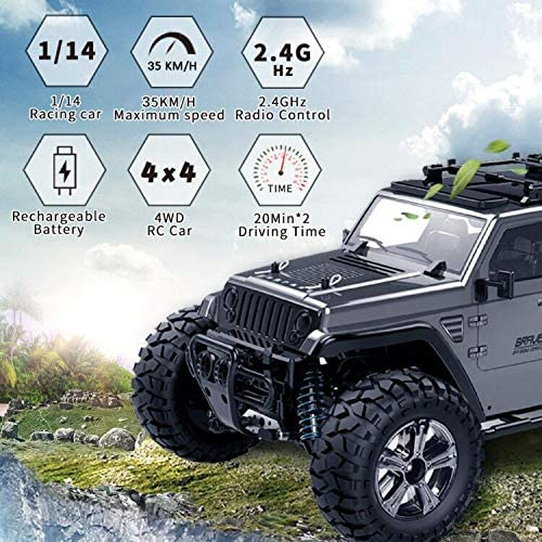 51liXNO1OQL. AC  - Jeep Rc Cars Off Road 4wd - Roterdon Rc Truck 1/14 Remote Control Car Cross-Country Monster Crawler Kids 35KM/H High Speed 2.4GHz Racing Vehicle Radio Control Toys for Boys Kids