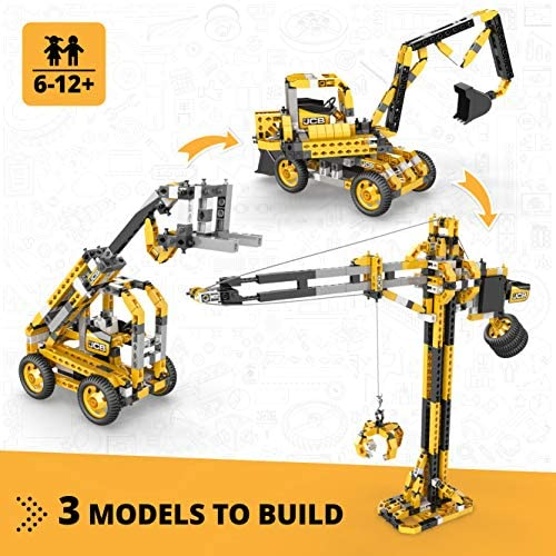 51m3+NmjvGL. AC  - Engino Machinery Toys Tall Crane Motorized - 3-in-One Build 3 Iconic Machinery Models A Creative Engineering Kit, Multicolor, 49x6.9x33cm