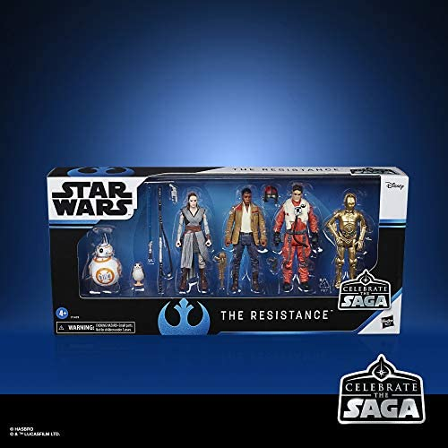 51mEUvojUEL. AC  - Star Wars Celebrate The Saga Toys The Resistance Figure Set, 3.75-Inch-Scale Collectible Action Figure 6-Pack (Amazon Exclusive)