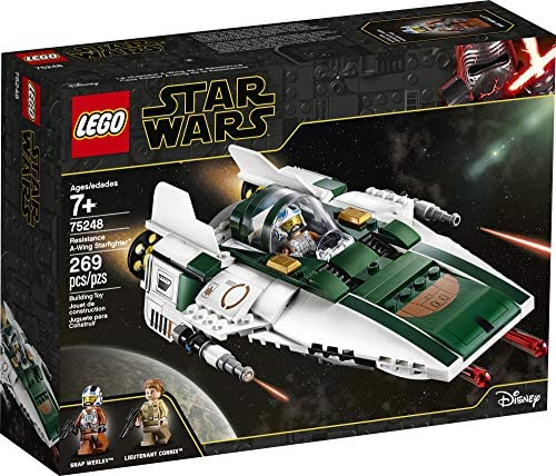 51mTxgyTgpL. AC  - LEGO Star Wars: The Rise of Skywalker Resistance A Wing Starfighter 75248 Advanced Collectible Starship Model Building Kit (269 Pieces)