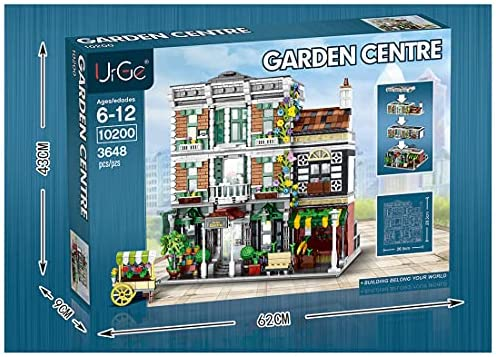 51nyDfV3IcS. AC  - PHYNEDI Street View Center Flower Shop Garden Centre Bricks Model Compatible with Lego, DIY Large Architecture Educational Building Block Assembly Small Particle Construction Toy (3,648 Pieces)