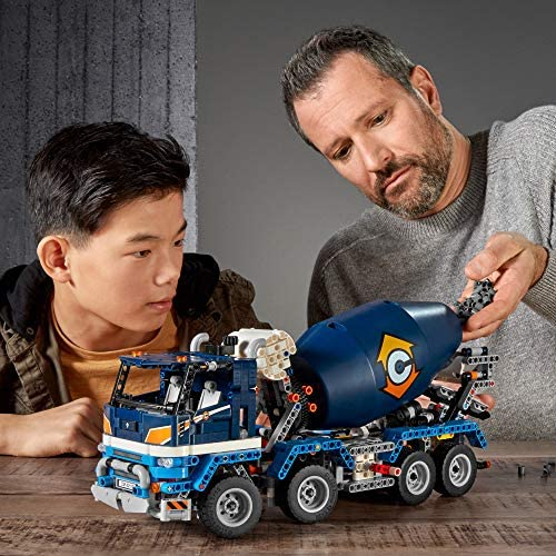 51ox4XayzHL. AC  - LEGO Technic Concrete Mixer Truck 42112 Building Kit, Kids Will Love Bringing The Construction Site to Life with This Cool Concrete Truck Toy Model Set (1,163 Pieces)