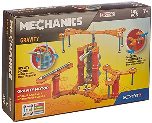 51pClKV4MSS. AC  - Geomag - MECHANICS GRAVITY MOTOR - 168-Piece Building Set with Magnetic Motion, Certified STEM Marble Run Construction Toy for Ages 7 and Up