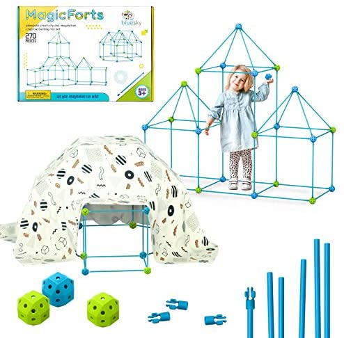 51pF699feCL. AC  - Fort Building Kit Toys for Kids - 270 Pieces DIY Fun Build for Girls and Boys Construction Tents Great Tunnels Creative Gift Set (270 Pieces)