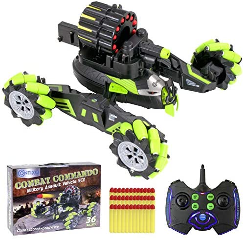 51poQ4qpNwL. AC  - Contixo SC2 All Terrain Combat Commando Military Assault Vehicle 2.4GHz Remote Control Car for Boys 8-12, RC Car Toy Vehicle Comes with 36 Bullets. Moves Fast and Battles with Other SC2 rc Cars!