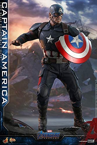 51qp0fG3zxL. AC  - Hot Toys Movie Masterpiece Series MMS536 Captain America Avengers: Endgame End Game Sixth Scale 1/6 (2021) Collectible Chris Evans Action Figure