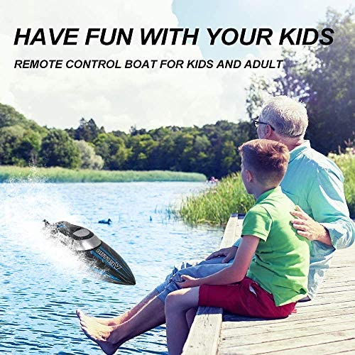 51qsAOwarnL. AC  - RC Boat, 2.4Ghz Remote Control Boat for Pools and Lakes, 4 Channels Fast Racing Boat with 30+KPH Speed Boat Toys for Kids and Adults (Blue)
