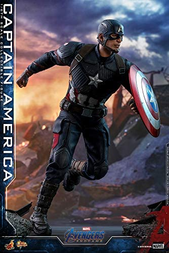 51ru72JBuQL. AC  - Hot Toys Movie Masterpiece Series MMS536 Captain America Avengers: Endgame End Game Sixth Scale 1/6 (2021) Collectible Chris Evans Action Figure