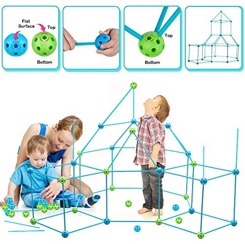 51sJQKvrhbL. AC  - Obuby Kids Fort Building Kit Construction STEM Toys for 5 6 7 8 9 10 11 12 Years Old Boys and Girls Ultimate Forts Builder Gift Build DIY Building Educational Learning Toy for Indoor & Outdoor