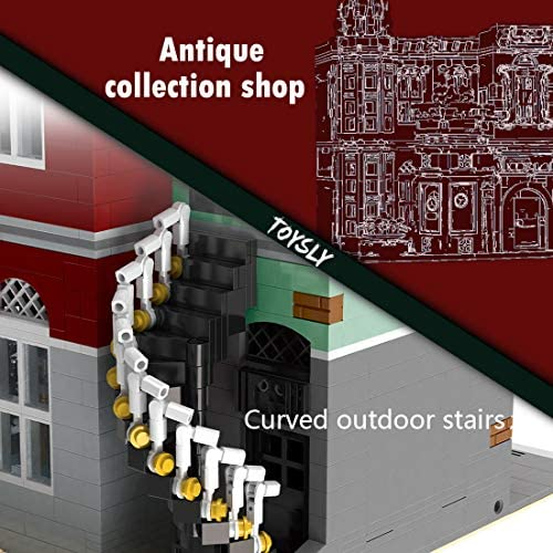51sM6QtiBBL. AC  - TOYSLY Street Antique Collection Shop MOC Building Blocks and Engineering Toy, Construction Set to Build, Model Set and Assembly Toy for Teens and Adult 3037 Pieces