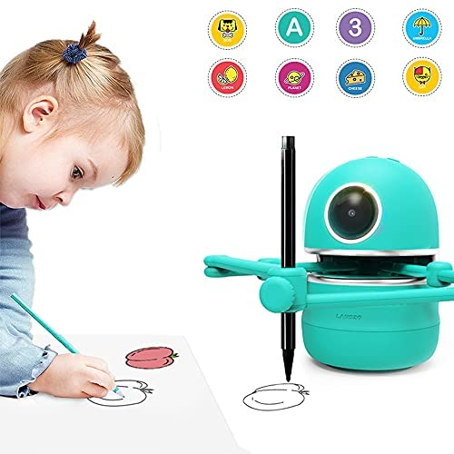 51smElvRtLS. AC  - LANDZO Robot Toy for Boys Age 4-5 Kids, Automatic Smart Robot Artist, Remote Control Toy with Kids Gifts
