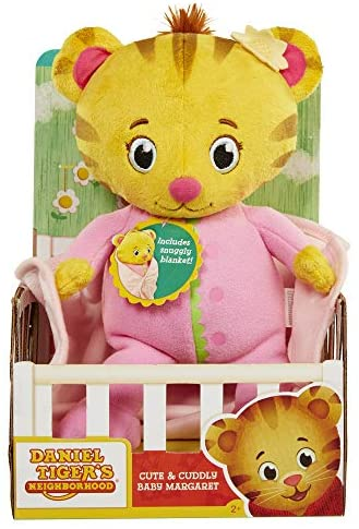 51t8N tZldL. AC  - Daniel Tiger's Neighborhood Cute and Cuddly Baby Margaret Plush Pink/Yellow