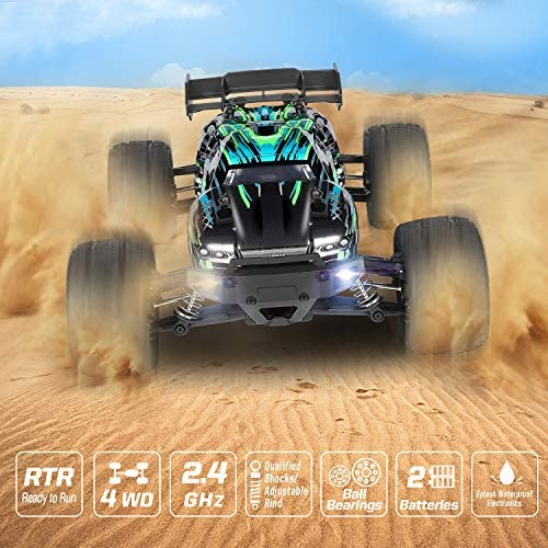 51wSf+wTUDL. AC  - HAIBOXING RC Cars Hailstorm, 1:18 Scale 4WD High Speed 36+ km/h Remote Control Car Off Road Monster RC Truck with 2 Batteries 40 mins Play, Waterproof RC Toys Truggy Gifts for Kids and Adult