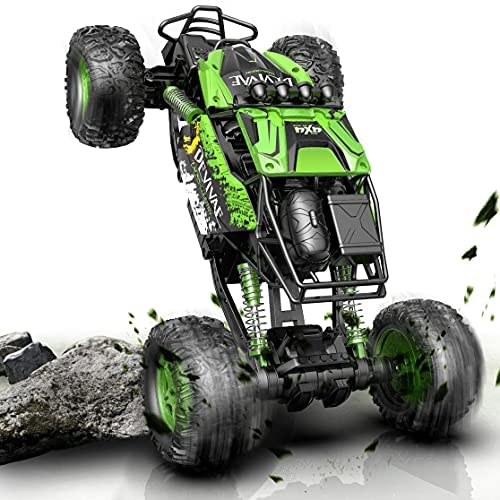 51weNKOIMGS. AC  - DEVIVAE RC Cars 2059 Remote Control Car for Adults Kids, 1:12 Scale 15Km/h All Terrain Monster Trucks 4WD Off-Road 2.4GHz Rock Crawler with 80Mins Play, Vehicle Toy Ideal Gift for 6 7 8 9 10 Boy Girl