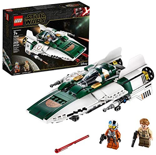 51wshWUzx5L. AC  - LEGO Star Wars: The Rise of Skywalker Resistance A Wing Starfighter 75248 Advanced Collectible Starship Model Building Kit (269 Pieces)