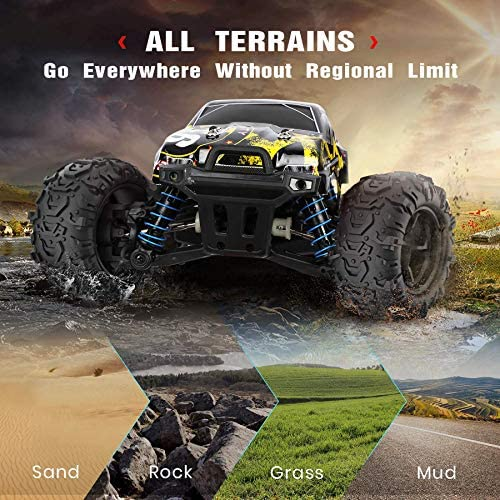 51xYor+PSUL. AC  - 1/18 RC Cars High Speed Remote Control Car for Adults Kids 30+MPH, 4WD Off-Road RC Monster Truck, Fast 2.4GHz All Terrains Toy Trucks Gifts for Boys, with 2 Rechargeable Batteries for 40Min Play