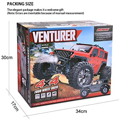 51zD5E5DX5L. AC  - Jeep Rc Cars Off Road 4wd - Roterdon Rc Truck 1/14 Remote Control Car Cross-Country Monster Crawler Kids 35KM/H High Speed 2.4GHz Racing Vehicle Radio Control Toys for Boys Kids