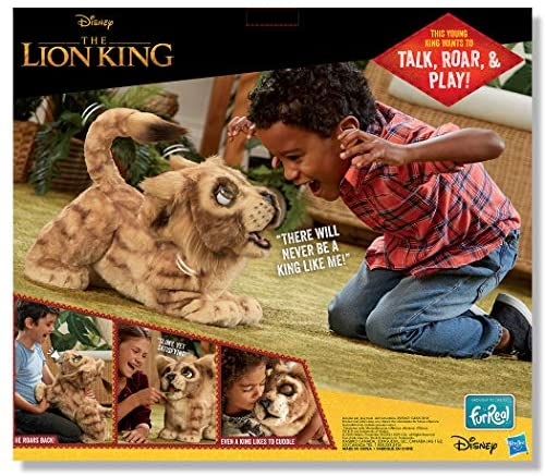 51zSxsMK9XL. AC  - Hasbro Disney The Lion King Mighty Roar Simba Interactive Plush Toy, Brought to Life by Furreal, 100+ Sound &-Motion Combinations, Ages 4 & Up