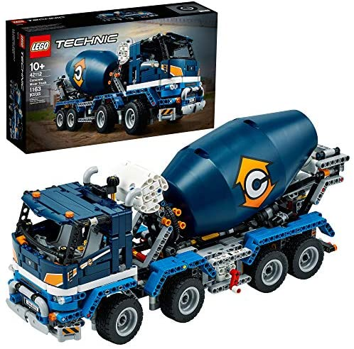51zx6F5KIkL. AC  - LEGO Technic Concrete Mixer Truck 42112 Building Kit, Kids Will Love Bringing The Construction Site to Life with This Cool Concrete Truck Toy Model Set (1,163 Pieces)