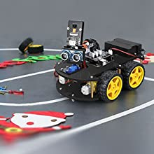 58fb05db c2fb 4a01 a1c9 fc08b9591e4a.  CR0,0,300,300 PT0 SX220 V1    - ELEGOO UNO R3 Project Smart Robot Car Kit V4.0 with UNO R3, Line Tracking Module, IR Remote Control Module etc. Intelligent and Educational Toy Car Robotic Kit Compatible with Arduino Learner