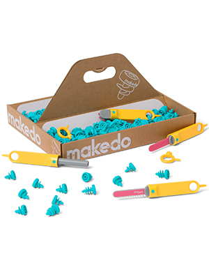 5a59d5c4 9f84 4c9c 907a 1879d5aca64f.  CR0,0,300,400 PT0 SX300 V1    - Makedo Discover Toolbox | Cardboard Construction Tools for Kids Age 7+ | 126 Piece Toolkit in Medium Sized Toolbox | Versatile Masks to Mazes Building Kit | Perfect for at Home Creative Play |