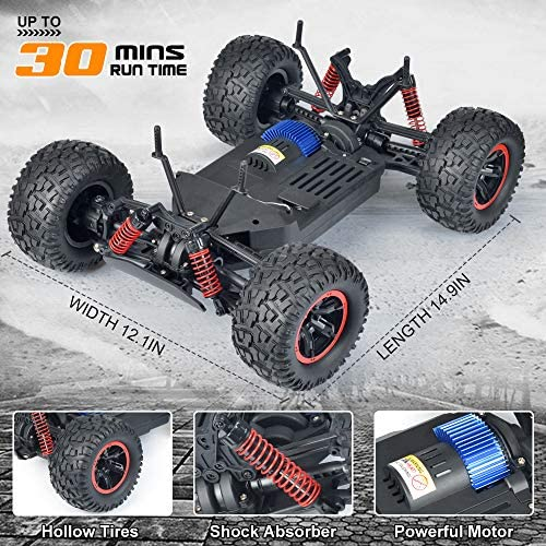 613SqnDfafL. AC  - NQD 1:10 Off Road RC Truck, 40+KM/H Remote Control Car, All Terrain Waterproof High Speed Remote Control Monster Truck, 4WD 2.4Ghz RC Cars for Kids & Adults Gifts