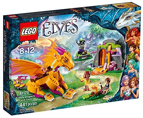 615H6DCGtUL. AC  - LEGO Elves Fire Dragon's Lava Cave 41175 Creative Play Toy for 8- to 12-Year-Olds