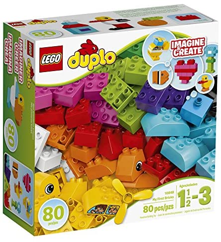 617xoqnHLvL. AC  - LEGO DUPLO My First Bricks 10848 Colorful Toys Building Kit for Toddler Play and Pretend Play (80 Pieces)