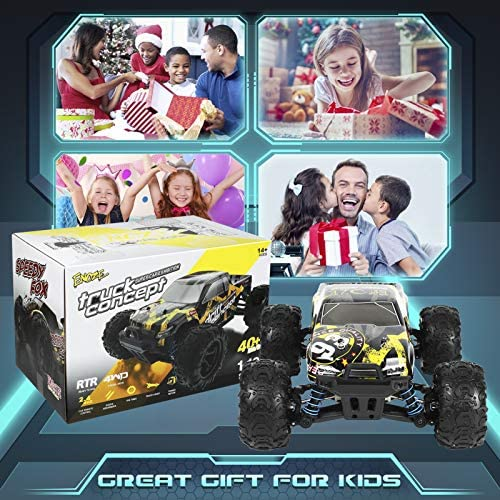 61B7F1L+uhL. AC  - 1/18 RC Cars High Speed Remote Control Car for Adults Kids 30+MPH, 4WD Off-Road RC Monster Truck, Fast 2.4GHz All Terrains Toy Trucks Gifts for Boys, with 2 Rechargeable Batteries for 40Min Play