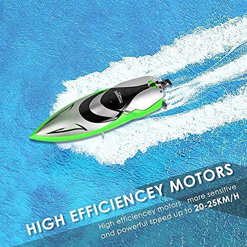61HM+monHFS. AC  - RC Boat [Upgraded 2021] - SHARKOOL 2.4 GHZ 25+ MPH Remote Control Boat, Fast RC Boats for Adults and Kids, Remote Controlled Boat for Pools and Lakes with 2 Rechargeable Batteries