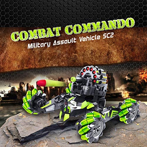61N EwtjfQL. AC  - Contixo SC2 All Terrain Combat Commando Military Assault Vehicle 2.4GHz Remote Control Car for Boys 8-12, RC Car Toy Vehicle Comes with 36 Bullets. Moves Fast and Battles with Other SC2 rc Cars!