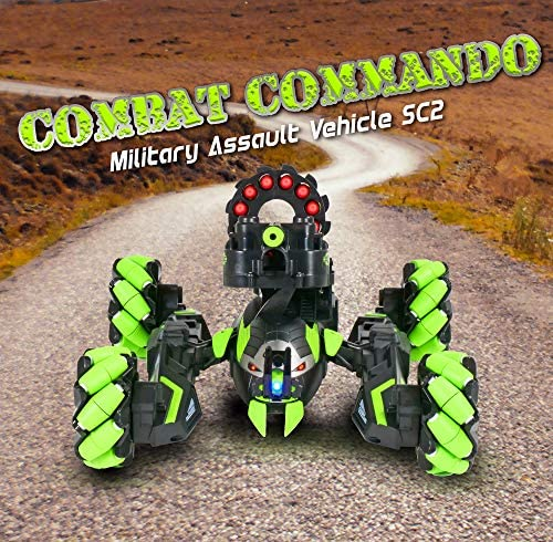 61OLKzh+SzL. AC  - Contixo SC2 All Terrain Combat Commando Military Assault Vehicle 2.4GHz Remote Control Car for Boys 8-12, RC Car Toy Vehicle Comes with 36 Bullets. Moves Fast and Battles with Other SC2 rc Cars!