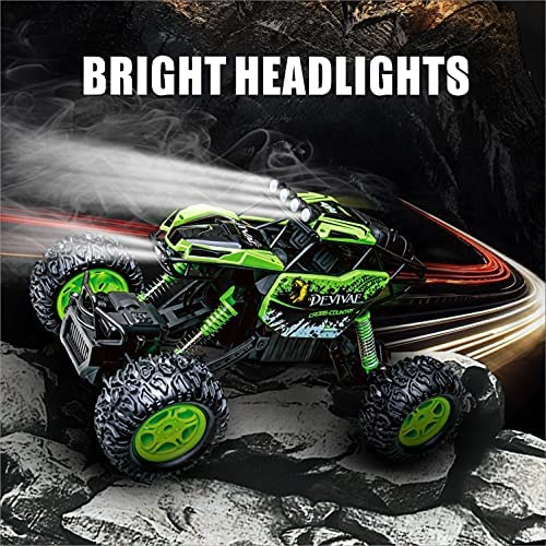 61YzzV7ylQS. AC  - DEVIVAE RC Cars 2059 Remote Control Car for Adults Kids, 1:12 Scale 15Km/h All Terrain Monster Trucks 4WD Off-Road 2.4GHz Rock Crawler with 80Mins Play, Vehicle Toy Ideal Gift for 6 7 8 9 10 Boy Girl
