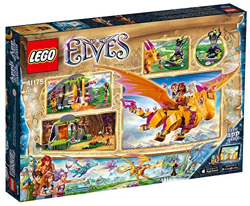 61drhoSb0NL. AC  - LEGO Elves Fire Dragon's Lava Cave 41175 Creative Play Toy for 8- to 12-Year-Olds