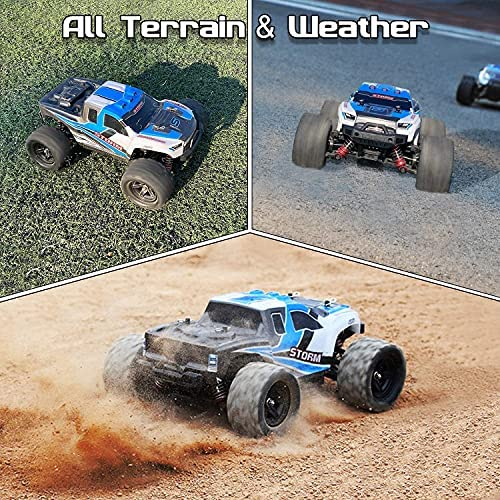 61f1azTSS S. AC  - Remote Control Truck for Boys 45KM/H 1:18 Scale RC Truck 4WD All Terrain Off Road Fast RC Car with 2 Rechargeable1200mAh Batteries for 60 Min Run Time, 2.4Ghz Remote Control Car Gift for Adults Girls