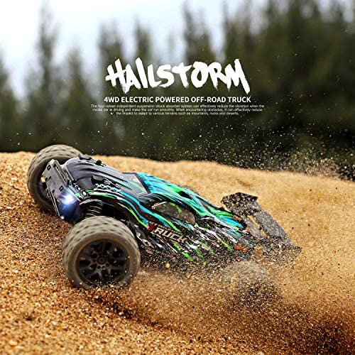 61gwksT+wiL. AC  - HAIBOXING RC Cars Hailstorm, 36+KM/H High Speed 4WD 1:18 Scale Electric Waterproof Truggy Remote Control Off Road Monster Truck with Two Rechargeable Batteries, RTR ALL Terrain Toys for Kids and Adult
