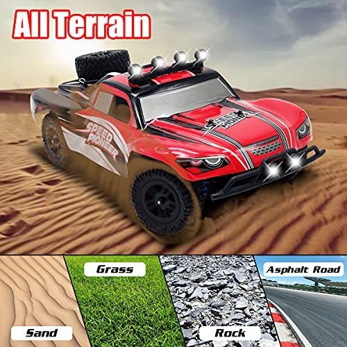 61q G1Y3XqS. AC  - VOLANTEXRC 1:18 Scale All Terrain RC Car 40 KM/H High Speed 4WD RC Truck with 2.4 GHz Remote Control Off Road RC Monster Vehicle Truck Crawler with Two Rechargeable Batteries for Boys Kids and Adults