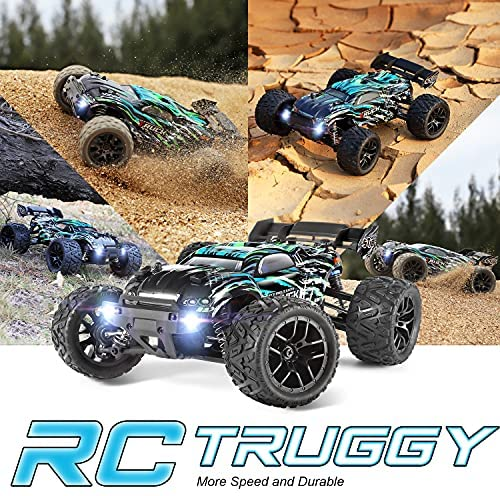 61r8p8oJHyS. AC  - HAIBOXING RC Cars Hailstorm, 1:18 Scale 4WD High Speed 36+ km/h Remote Control Car Off Road Monster RC Truck with 2 Batteries 40 mins Play, Waterproof RC Toys Truggy Gifts for Kids and Adult