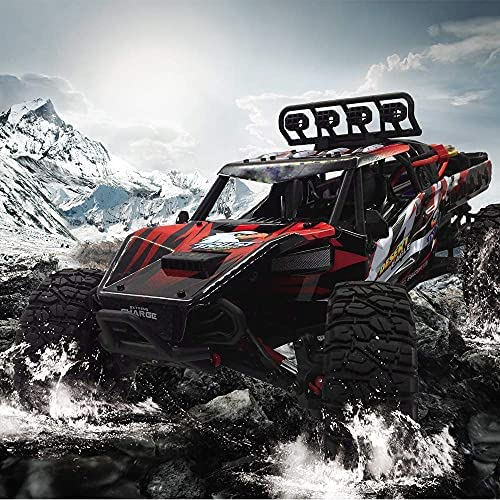 61vehwDaPxS. AC  - 1:12 Scale Large RC Cars Truck 60+kmh High Speed for Adults and Kids,6x6 2.4GHz Radio Road Monster All Terrain Electric Remote Control Offroad Car with Two Rechargeable Batteries.