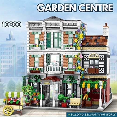61wYIXZbCuL. AC  - PHYNEDI Street View Center Flower Shop Garden Centre Bricks Model Compatible with Lego, DIY Large Architecture Educational Building Block Assembly Small Particle Construction Toy (3,648 Pieces)