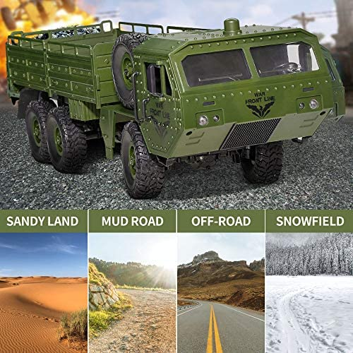 61xI6V0HuXL. AC  - RC Cars, Remote Control Army Car with Transport Function 6WD Off-Road Truck All Terrains Electric Toy Waterproof RC Toy for Adult Boys Girls