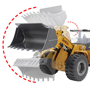 645f8764 1a72 448c a62d 946642bb83dd.  CR0,0,300,300 PT0 SX300 V1    - TongLi 583 1:14 Scale Metal RC Wheel Loader Toy Construction Trucks Vehicles Remote Control Outdoor Toys Bulldozer for Adults 2.4Ghz Powerful Upgraded with LED Lights and Simulation Sound