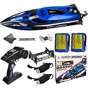70889e30 b84c 4c64 99fc 3659c4454ba4.  CR0,0,600,600 PT0 SX300 V1    - HONGXUNJIE 2.4Ghz High Speed RC Boat-HJ808 18mph Remote Control Racing Boat for Kids and Adults for Lakes and Pools with Double Batteries Double Charger Cables (Blue)
