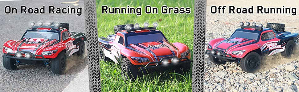 7664fefb bb7d 4431 8d04 fc08676da15e.  CR0,0,1940,600 PT0 SX970 V1    - VOLANTEXRC 1:18 Scale All Terrain RC Car 40 KM/H High Speed 4WD RC Truck with 2.4 GHz Remote Control Off Road RC Monster Vehicle Truck Crawler with Two Rechargeable Batteries for Boys Kids and Adults
