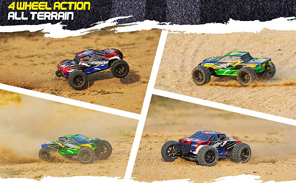 78b80be1 9ccb 4776 a8c5 4249008c9528.  CR0,0,3880,2400 PT0 SX970 V1    - 1:10 Scale Brushless RC Cars 65 km/h Speed - Boys Remote Control Car 4x4 Off Road Monster Truck Electric - All Terrain Waterproof Toys for Kids and Adults - 2 Body Shells + Connector for 30+ Mins Play