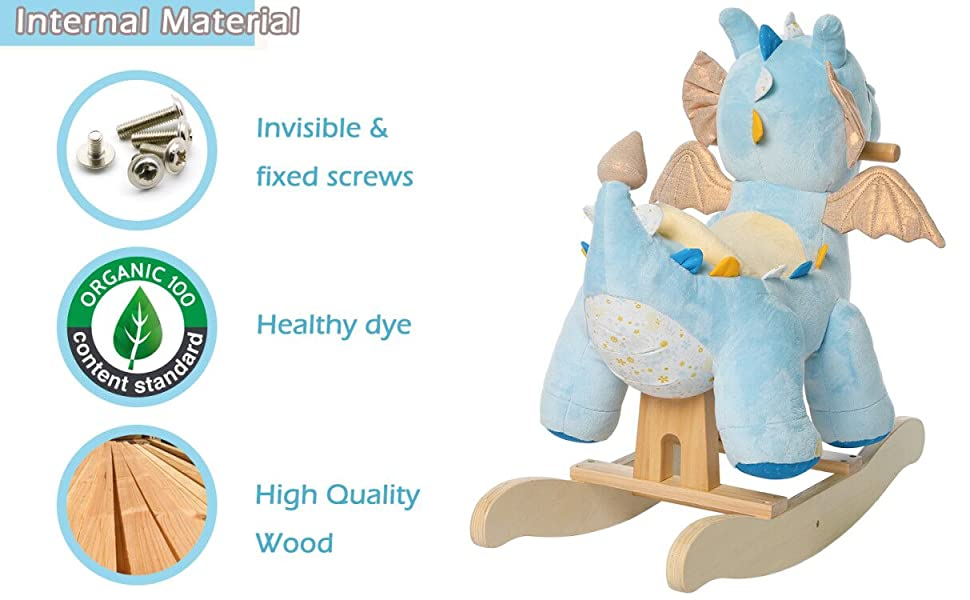 89f2399f ec6d 4b97 b99a 32c4c7ab06dd.  CR0,0,1213,750 PT0 SX970 V1    - labebe - Baby Rocking Horse, Child Blue Winged Dragon Rocker, Toddler Ride on Toys for Kid 1-3 Years Old, Wooden Rocking Chair Animal for Girl&Boy