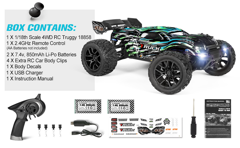 8e102824 89af 4a73 b22a d48cb8a01ebd.  CR0,0,970,600 PT0 SX970 V1    - HAIBOXING RC Cars Hailstorm, 1:18 Scale 4WD High Speed 36+ km/h Remote Control Car Off Road Monster RC Truck with 2 Batteries 40 mins Play, Waterproof RC Toys Truggy Gifts for Kids and Adult